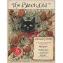 Gato Preto Espinhos Arvores Laço Vermelho Poster Repro