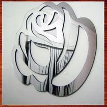 Espelho Acrílico Decorativo - Escultura De Rosa Espelhada