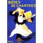 Garcom Bebendo Cerveja Chartres Vintage Poster Reproduction