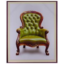 Tela Impressa Poltrona Verde Fullway - 60x50 Cm