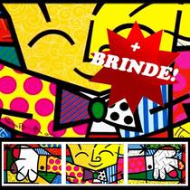 Quadro Decorativo Romero Britto - The Hug - O Abraço Grande