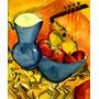 Jarro E Tigela Africanos Pintor Henri Kirchner Tela Repro