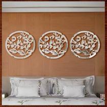 Quadros Escultura Parede Espelho Trio Mandalas C/ Ideogramas