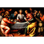 Última Ceia Jesus Cristo Apóstolos Pintor Otto Tela Repro