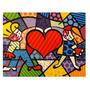 Quadro Tela Painel Heart Kids - Romero Britto