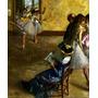 Classe Aula De Balé Dança Ensaio Pintor Degas Repro Na Tela