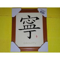 Quadro Japão Escrita Serenety Serenidade