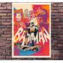 Gravura P/ Quadro Decorativo Batman Comics Retro 30x42cm