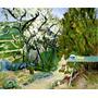 Tábua Verde No Jardim Árvores Pintor Bonnard Tela Repro
