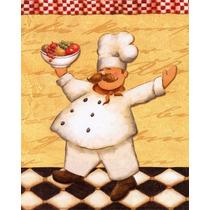 Placas Decorativas Retro Vintage Chefes Cozinha Frete Grátis