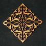 Quadro Arabesco Mdf Aplique Parede Escultura S/pintura 60cm
