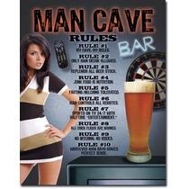 Placa Metálica Man Cave 31x40cm