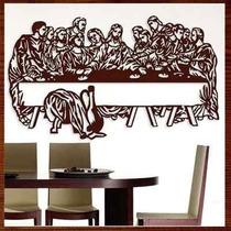 Quadro Santa Ceia Escultura Parede Mdf C/ 60 Cm
