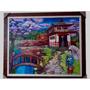 Quadro Paisagem Japonesa ( 80 X 1,00 Cm ) Pintura Oleo