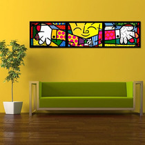 Quadro Decorativo Romero Britto - The Hug - O Abraço Grande