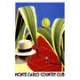Monte Carlo Clube De Tênis Esporte Mônaco Poster Repro