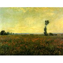 Paisagem Campo Papoula França 1881 Pintor Monet Tela Repro