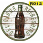 Placas Coca-cola Retro Vintage Rusticas Redondas