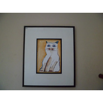 Aldemir Martins -gato Acrílico S/ Papel 2003 ( Q03 )