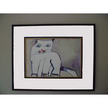 Aldemir Martins -gato Acrílico S/ Papel 2003 ( Q06 )