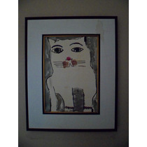 Aldemir Martins -gato Acrílico S/ Papel 2002 ( Q05 )
