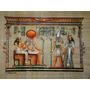 Papiro Egipcio 32x43cm Egito Hórus Deus Ra Isis Seth Pm6