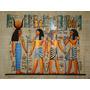 Papiro Egipcio 32x43cm Egito Hórus Seth Pm18