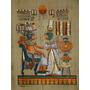 Papiro Egipcio 24 X 34cm Egito Amon Hathor Isis Pp1