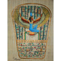 Papiro Egipcio 32 X 43cm Egito Amon Hathor Isis Pm1