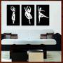 Quadro Decorativo Bailarinas Painéis C/ Escultura Mdf Relevo