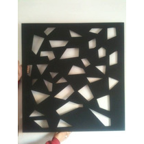 Quadro Decorativo Escultura Parede Mdf Grande C/ 90x90 Cm