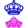Dupla Coroas Mdf Provençal Festa Príncipe E Princesa 50cm