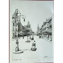Rio Antigo - Av. Rio Branco/1930 - Gravura Assinada