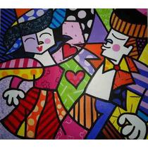 Releitura Romero De Brito 80x90 Painel Inclusive O Abraço