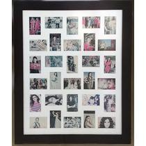 Quadro Painel Multifotos Porta Retrato Várias Fotos 30 Fotos
