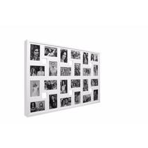 Painel 24 Fotos Branco 93x60x3 Vidro Retirada Em Mãos