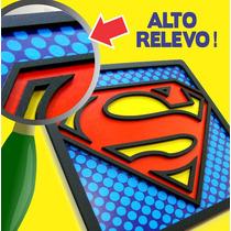 Quadro Super Heróis Batman Superman Placa Nao É Adesivo