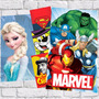 Placas Decorativas Super Heróis, Princesas E Filmes Infantis