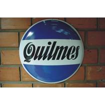 Placa Decoração Concava Aço 40cm Cerveja Quilmes