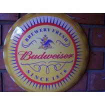 Placa Decoração Concava Aço 40 Cm Cerveja Budweiser