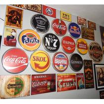 Placas De Metal Redondas Decoração Bar Vintage Retro