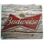 Placa Araçás Vintage Retrô - Budweiser - 025-ps - Mdf