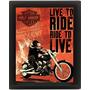 Placas Decorativas Retro Vintage Motos Harley Frete Grátis