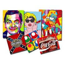 Placas Decorativas Retrô, Vintage, Cervejas & Filmes