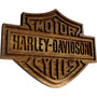 Placa Harley Davidson Motor Cycles Hd Madeira Decorativa