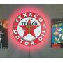 Placa Texaco Com Iluminação Em Led Neon Bivolt