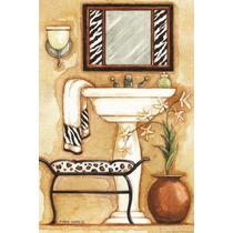 Placas Trio Quadro Banheiro Antigo Vintage - Oficina Retrô !