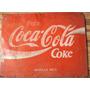 Placa Antiga Coca-cola - Latão - Vermelha Ax