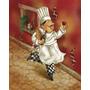 Placas Trio Decorativas Chefes De Cozinha - Oficina Retrô