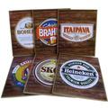 6 Placas Cerveja - Skol Antarctica Brahma Bohemia Heineken
